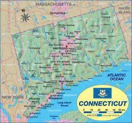 map of connecticut united states usa map in the atlas