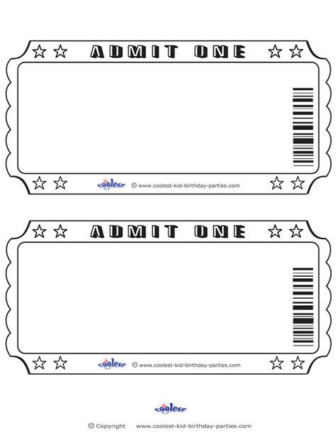 ticket invitations template free 8 best images of blank ticket template