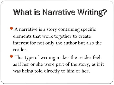 What Is A Personal Narrative Essay by Narrative Writing