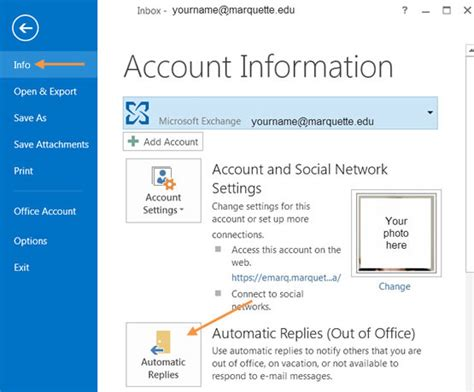 Out Of Office In Outlook 2013 by Out Of Office It Services Marquette