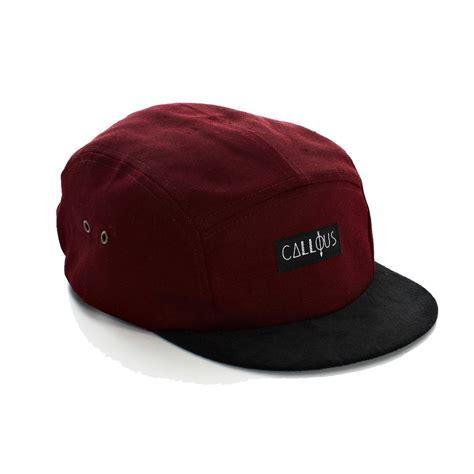 callous 5 panel baseball cap maroon