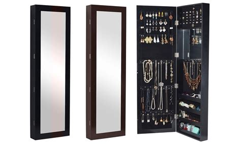 over the door jewelry armoire with full length mirror over the door jewelry armoire groupon goods