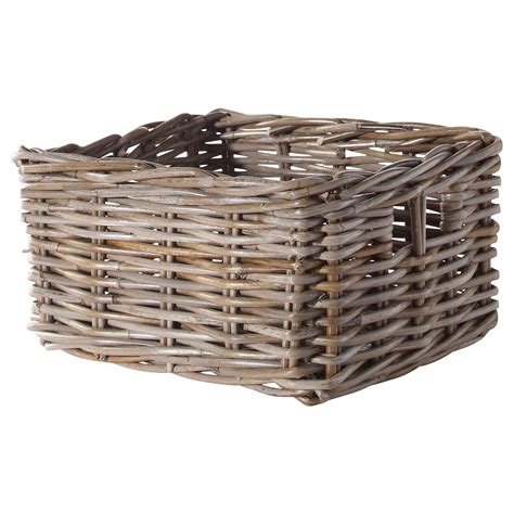 Ikea Baskets | byholma basket grey 25x29x15 cm ikea