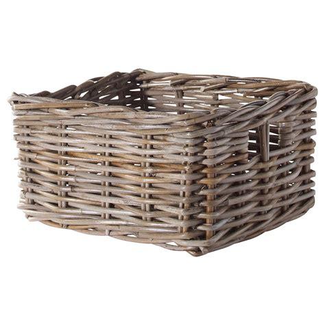 Ikea Basket | byholma basket grey 25x29x15 cm ikea