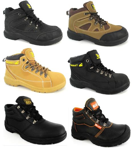 Safety Shoes Boots Cakep mens steel toe cap work safety lightweight chukka trainers