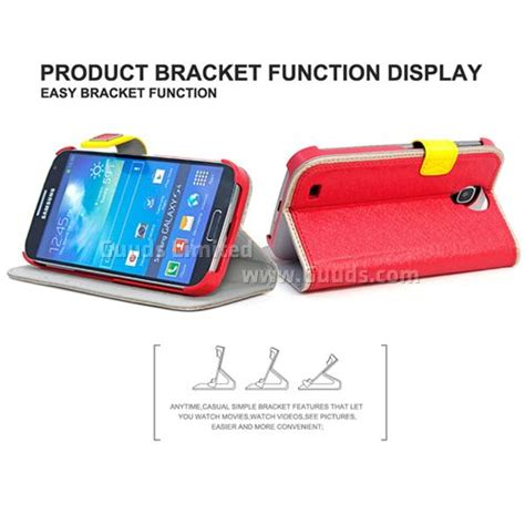Fashion Design For Samsung S4 Leather With Model S View Window And Stand Position Support 7 Color Choice hellodeere silk series leather for samsung galaxy