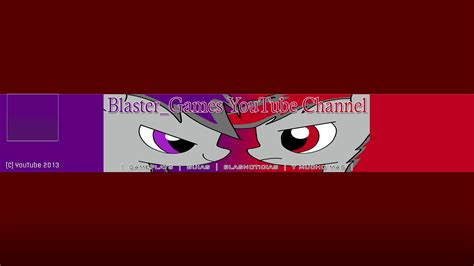 design cover photo for youtube blaster games youtube channel cover by ov3rhell3xoduz on