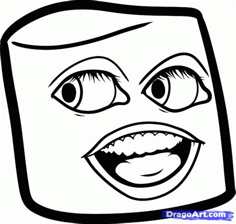 how to draw marshmallow annoying orange step by step