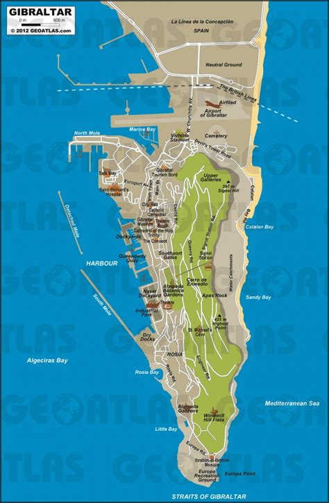 printable road map of gibraltar gibraltar