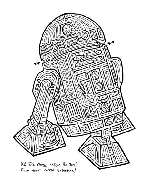 printable learning mazes loot bag printable maze star wars birthday party
