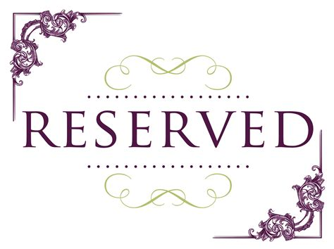 reserved cards for tables templates printable wedding reserved signs for tables pictures to