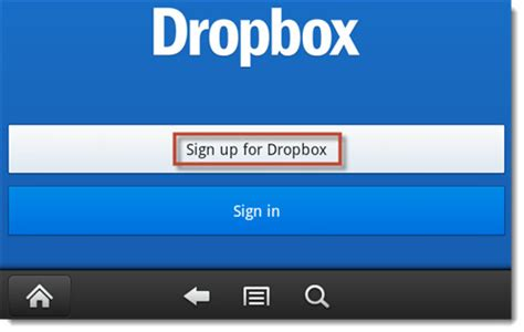 dropbox register how to use dropbox on kindle fire