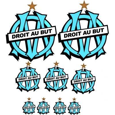 stickers pr駭om porte chambre sticker sport 9 logo om stickersmania fr