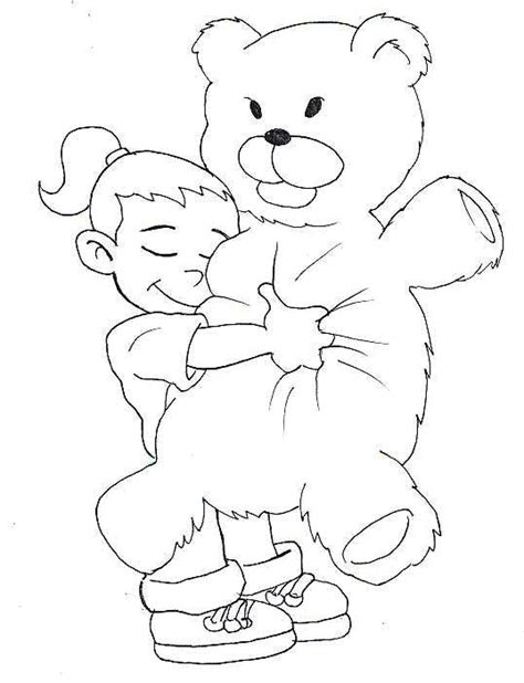 bear hug coloring pages the girl hug a bear coloring page printable color pages