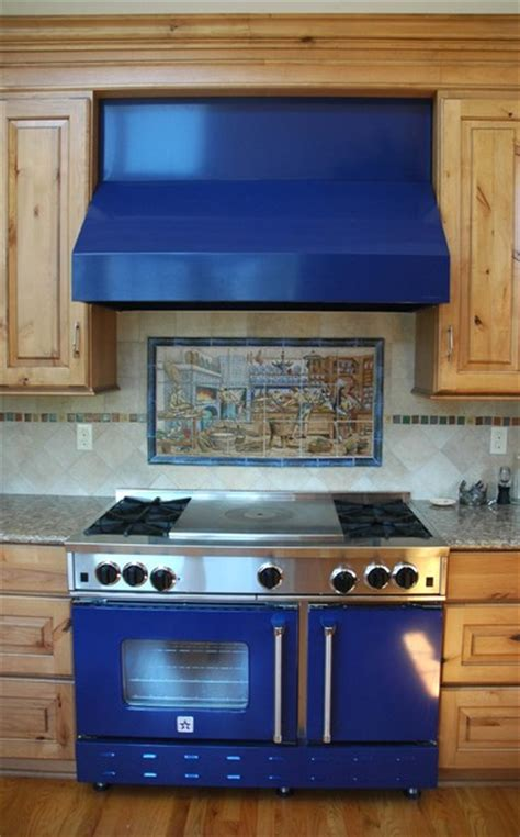 Ceramic Tile Murals For Kitchen Backsplash Quot Pat S Delft Diderot Quot Ceramic Tile Mural Backsplash Traditional Kitchen Other Metro