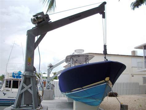harbor master boat lift davit master boat davits