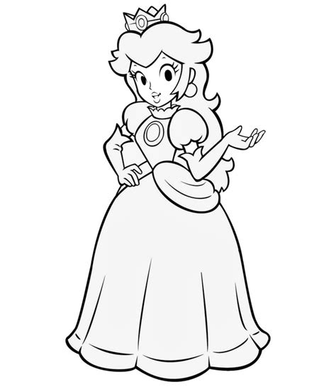 coloring page princess peach princess peach coloring pages