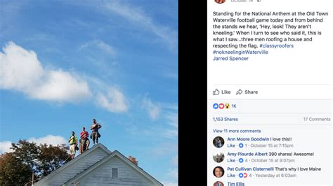Picture Post Nation 8 by Maine Roofers Stand For National Anthem Viral
