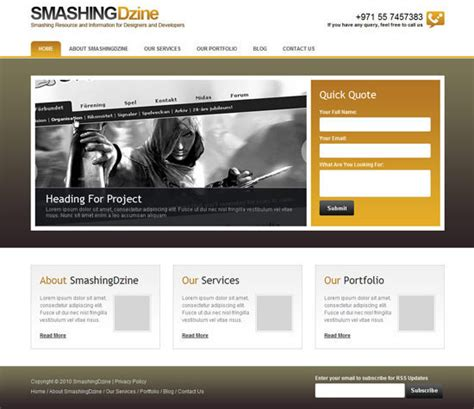 business web design homepage psd den html ve css aktarım 214 rnekleri aorhan blog