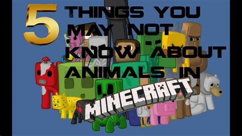 5 things you may not know about animals in minecraft youtube
