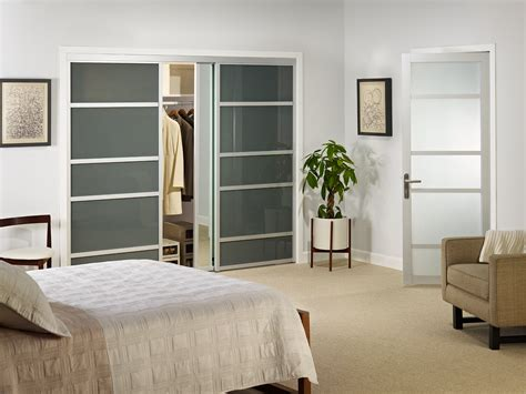 closet slide door smoked glass sliding closet doors
