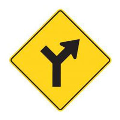 Y-Intersection Sign (Controlled) | WA-15A Traffic Sign ... Y Intersection Sign
