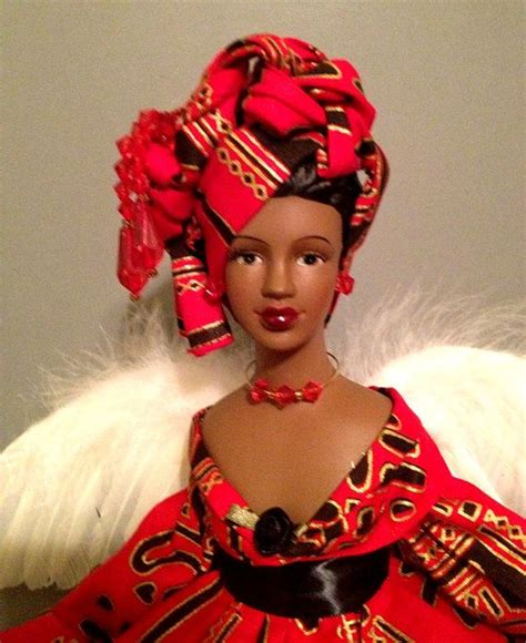 black doll ornament american afrocentric black doll by