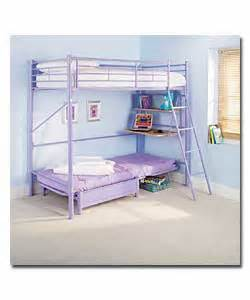 High Sleeper With Desk And Futon Lilac Sleep And Sit High Sleeper With Desk And Lilac Futon Baby Cots And Cot Bed Review