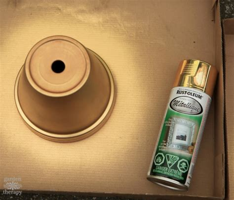 spray paint instagram rust oleum gold metallic spray paint test garden therapy