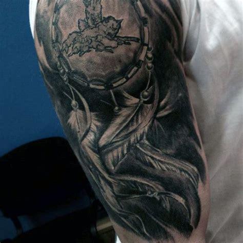 Dreamcatcher Tattoo Half Sleeve   100 dreamcatcher tattoos for men divine design ideas