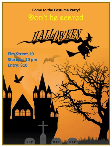 templates for halloween flyers halloween flyer template orange theme free flyer templates