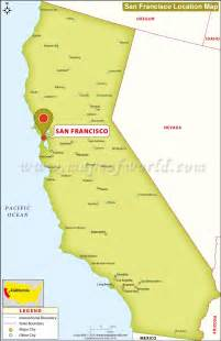 San Francisco On A World Map by Where Is San Francisco California Location Map Of San