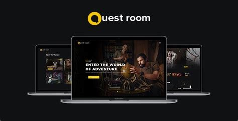 Questroom Creative Escape Room Quest Room Html5 Css3 Template Nulled Download Escape Room Website Template