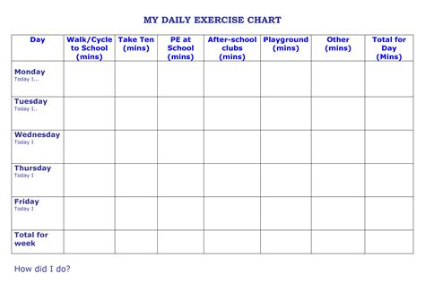 relay for walking schedule template 10 best images of daily walking chart daily exercise