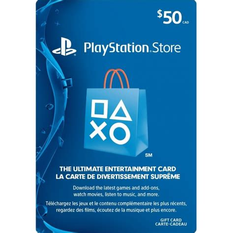 Psn Gift Cards - psn card 50 cad playstation network canada digital