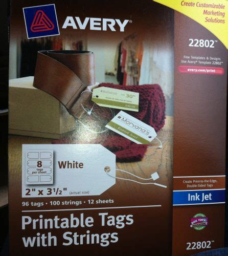 printable tags with strings avery promotional products review tidbits of experience