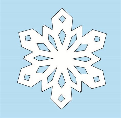 easy snowflake template how to make paper snowflakes allfreechristmascrafts