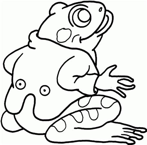 frog coloring page free printable frog coloring pages for