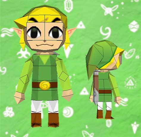 Link Papercraft - the legend of chibi link free papercraft