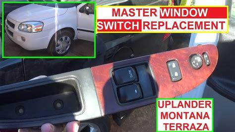 2008 quest window door sliding chevrolet uplander master window switch removal and