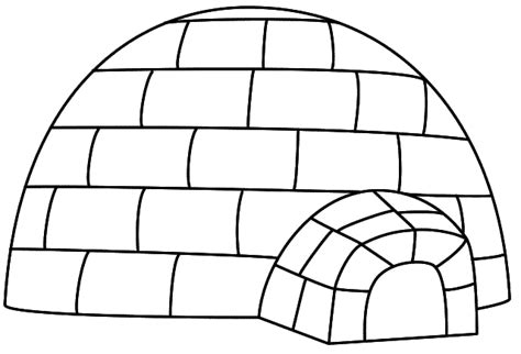 igloo coloring page free igloo 8 buildings and architecture printable coloring