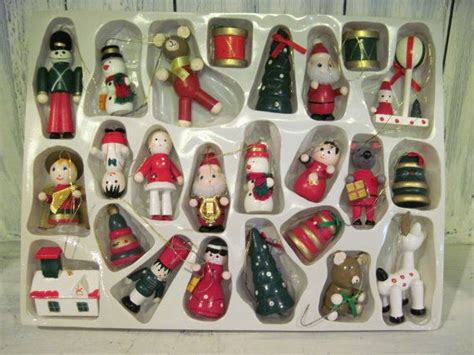 vintage wooden christmas ornaments wooden christmas tree