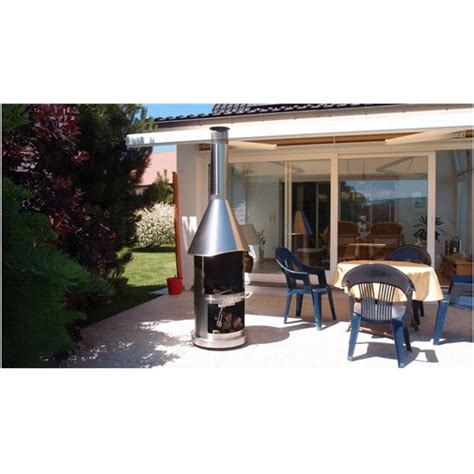 cheminee d exterieur barbecue chemin 233 e d ext 233 rieur barbecue manhattan e inox bross 233