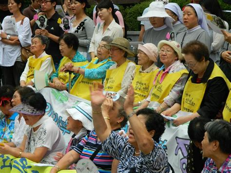 comfort women wiki file comfort women rally in front of the japanese embassy
