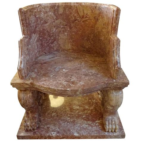 roman armchair large greek roman style marble chair at 1stdibs