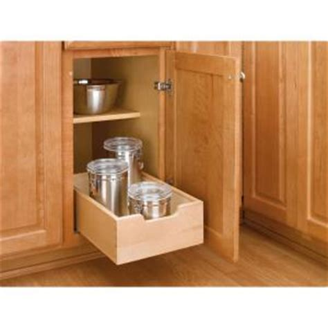 Kitchen Cabinet Pull Out Shelves Home Depot Rev A Shelf 5 62 In H X 11 In W X 18 5 In D Small Wood Base Cabinet Pull Out Drawer 4wdb 12