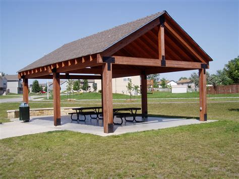 outdoor shelter plans picnic shelter plans winwood park city of gardner