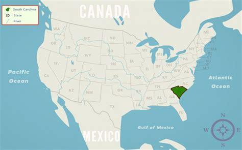 map usa south carolina south carolina sc state information