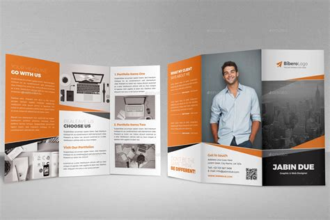 trifold brochure template indesign portfolio trifold brochure indesign template by jbn