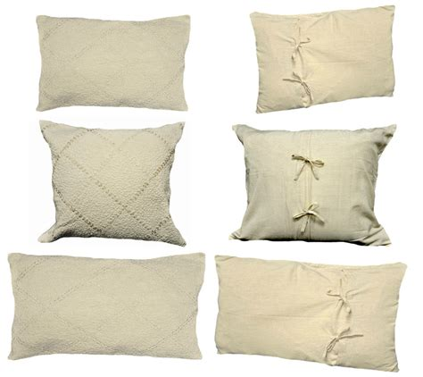 Pillow Measurements by Decorative Ivory Pillow Shams Standard King Sizes Ebay